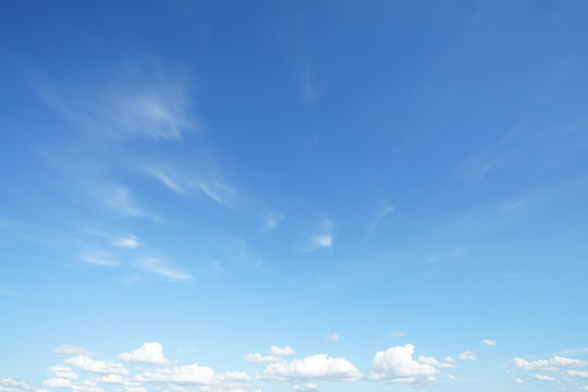 Blue sky clouds blurred during morning open view out windows beautiful summer spring and peaceful nature background.