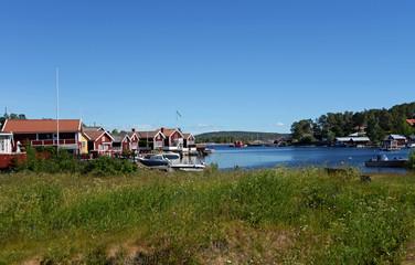 Hafen von Spikarö auf Alnön in Schweden