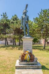 La Coruna, Spain. Monument to Diego del Barco