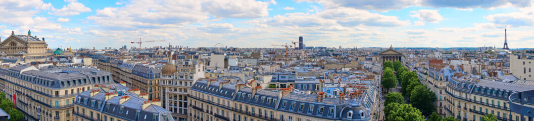 Panoramic picture of Paris / Taken from the Rooftop Balkony of the shopping centre