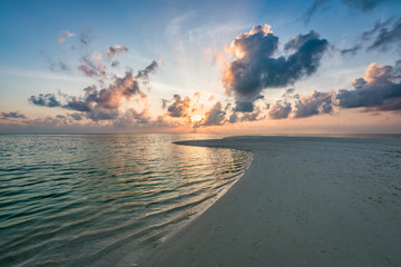 Wall Mural - Dramatic sunset at the beach on a tropical island