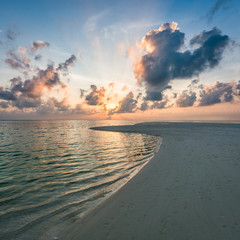 Wall Mural - Beautiful sunset at the beach on a tropical island in the South Sea
