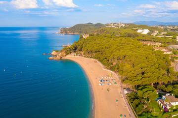 Fototapete - Beach de Fenals. Lloret de Mar resort.
