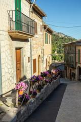 medieval street in Valdemossa, Spain