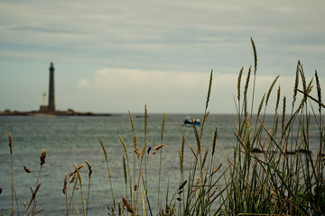 Lighthouse in Brittany on the Ille Vierge