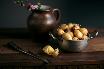 Rustic Still Life with Potatoes