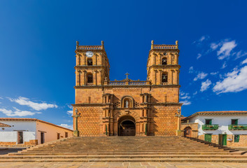 Fototapete - Cathedral of Barichara Santander in Colombia South America
