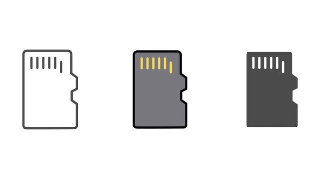 Memory card vector icon sign symbol