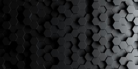 Dark hexagon wallpaper or background