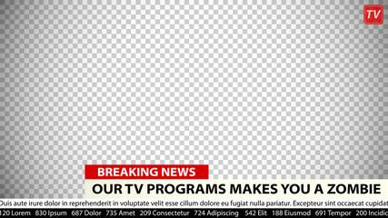 Breaking news vector template. Business communication background for media design.