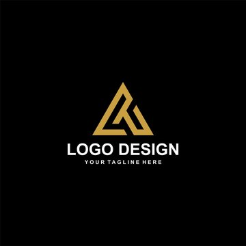 Mountain gold logo design vector.  Adventure logo icon illustration.