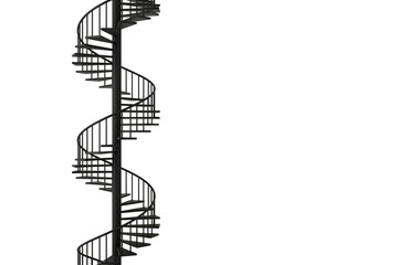 Photo sur Plexiglas Spirale Spiral staircase with minimal concepts, 3D rendering.