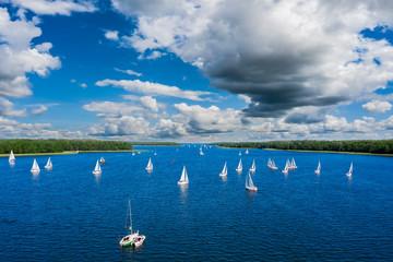 Fototapete - Masuria-the land of a thousand lakes in north-eastern Poland