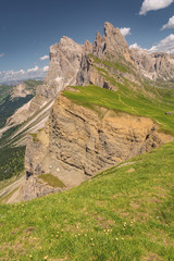 Fototapete - Idyllic Alps with rocky and sandy mountain