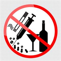 no smoking sign, no drugs