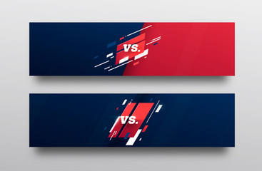 VS . Versus Board of rivals, with space for text. vector illustration. Grey vs banner. football, basketball, soccer screen. vector illustration. yellow. in dark background
