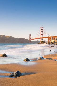 Golden Gate Bridge from Marshall's Beach, San Francisco, California