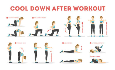 Cool down after workout exercise set. Collection Wall mural