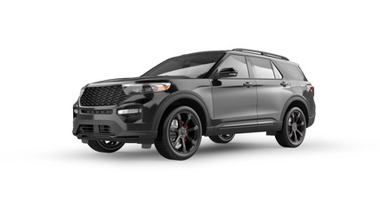 Modern SUV Isolated on White
