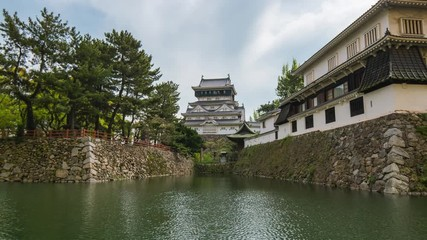 Wall Mural - Time Lapse video of Kokura castle in Kitakyushu, Japan
