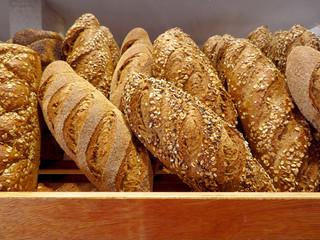 Rustic bread stall