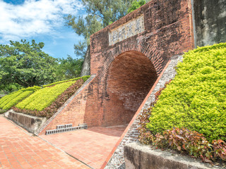 """The Eternal Golden Castle in Tainan City. (The English translation of the text on the gate means """"a tower of strength"""")"""