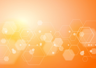 Abstract Orange Background, Vector Graphics