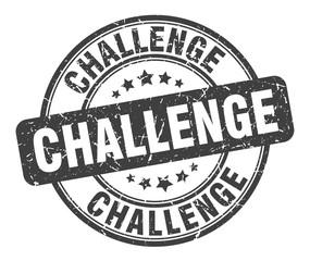 Fototapeta challenge stamp. challenge round grunge sign. challenge obraz