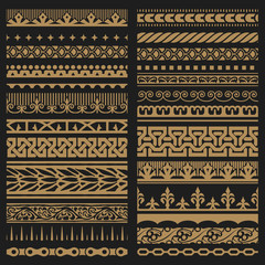 Borders set. Baroque and classical style