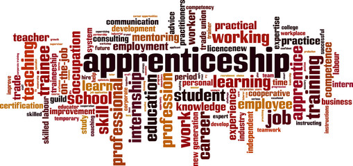 Apprenticeship word cloud