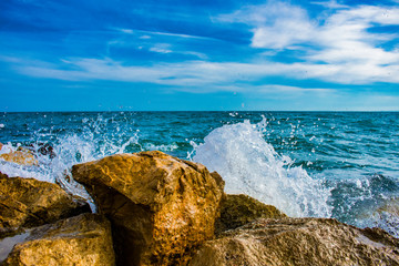 Papiers peints Cote Beautiful coast of Salou in Spain. Resort Spain. Coast of the Mediterranean.