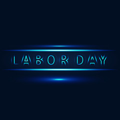 labor day light vector image