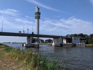 Bridge over the Princess margriet canal in Spannenburg