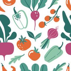Slats personalizados para cozinha com sua foto Seamless pattern with hand drawn doodle vegetables