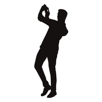 Man Taking Selfie Silhouette