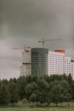 Construction home at Minsk, Belarus.