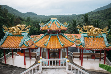 Fotobehang Historisch mon. View of Chinese Buddhist temple
