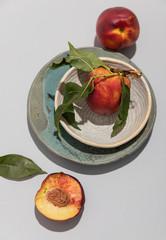 Peach still life