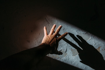 Hand making shadows