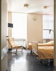 Doorway into modern clinic ward