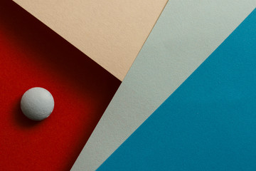 Abstract background with polygon and sphere