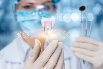 The concept of dental treatment.