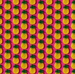 Gummy Pineapple on Magenta Pattern