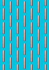 Gelatin Candy Stripes on Light Blue