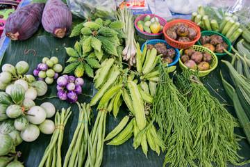 THAILAND PHRAE FOOD MARKET VEGETABLE