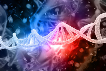 DNA Strands 3D Illustration
