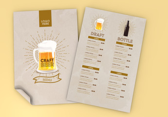 Beer and Wine List Layout