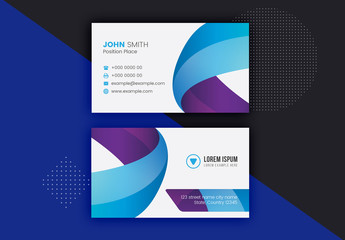 Blue and Purple Business Card Layout