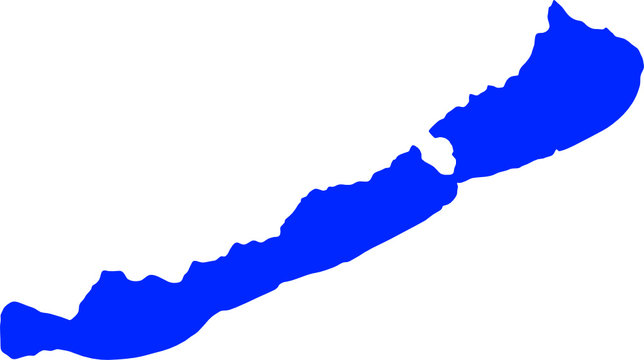 Lake Balaton, Hungary - simple shape vector illustration