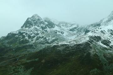 Monte Spluga Stausee, See am Spluegenpass in Italien und der Schweiz